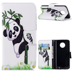 Bamboo Panda Leather Wallet Case for Motorola Moto G6 Plus G6Plus