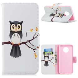 Owl on Tree Leather Wallet Case for Motorola Moto G6 Plus G6Plus
