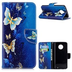 Golden Butterflies Leather Wallet Case for Motorola Moto G6 Plus G6Plus