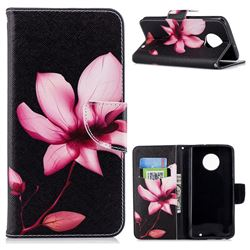 Lotus Flower Leather Wallet Case for Motorola Moto G6 Plus G6Plus