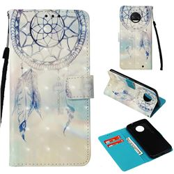 Fantasy Campanula 3D Painted Leather Wallet Case for Motorola Moto G6 Plus G6Plus