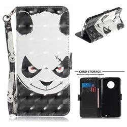 Angry Bear 3D Painted Leather Wallet Phone Case for Motorola Moto G6 Plus G6Plus