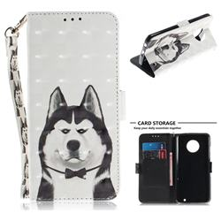 Husky Dog 3D Painted Leather Wallet Phone Case for Motorola Moto G6 Plus G6Plus