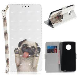 Pug Dog 3D Painted Leather Wallet Phone Case for Motorola Moto G6 Plus G6Plus