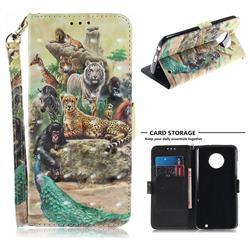 Beast Zoo 3D Painted Leather Wallet Phone Case for Motorola Moto G6 Plus G6Plus