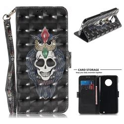 Skull Cat 3D Painted Leather Wallet Phone Case for Motorola Moto G6 Plus G6Plus