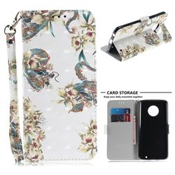 Dragon Flower 3D Painted Leather Wallet Phone Case for Motorola Moto G6 Plus G6Plus