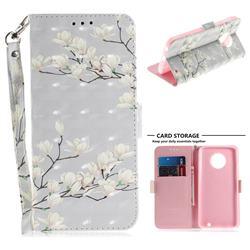Magnolia Flower 3D Painted Leather Wallet Phone Case for Motorola Moto G6 Plus G6Plus