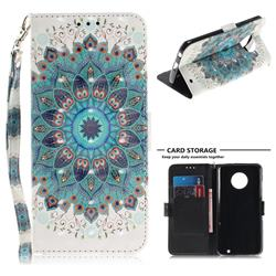 Peacock Mandala 3D Painted Leather Wallet Phone Case for Motorola Moto G6 Plus G6Plus