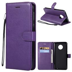 Retro Greek Classic Smooth PU Leather Wallet Phone Case for Motorola Moto G6 Plus G6Plus - Purple