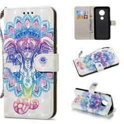 Colorful Elephant 3D Painted Leather Wallet Phone Case for Motorola Moto G6 Plus G6Plus