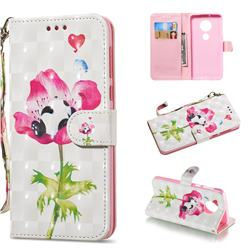 Flower Panda 3D Painted Leather Wallet Phone Case for Motorola Moto G6 Plus G6Plus