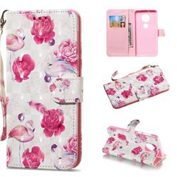 Flamingo 3D Painted Leather Wallet Phone Case for Motorola Moto G6 Plus G6Plus