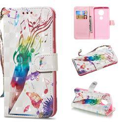 Music Pen 3D Painted Leather Wallet Phone Case for Motorola Moto G6 Plus G6Plus