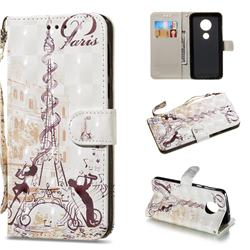 Tower Couple 3D Painted Leather Wallet Phone Case for Motorola Moto G6 Plus G6Plus