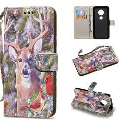 Elk Deer 3D Painted Leather Wallet Phone Case for Motorola Moto G6 Plus G6Plus