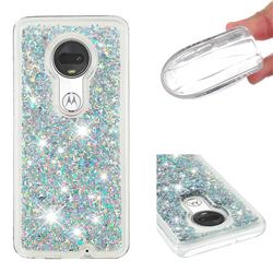 Dynamic Liquid Glitter Quicksand Sequins TPU Phone Case for Motorola Moto G7 / G7 Plus - Silver