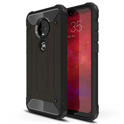 King Kong Armor Premium Shockproof Dual Layer Rugged Hard Cover for Motorola Moto G7 / G7 Plus - Black Gold
