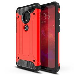 King Kong Armor Premium Shockproof Dual Layer Rugged Hard Cover for Motorola Moto G7 / G7 Plus - Big Red