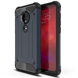 King Kong Armor Premium Shockproof Dual Layer Rugged Hard Cover for Motorola Moto G7 / G7 Plus - Navy