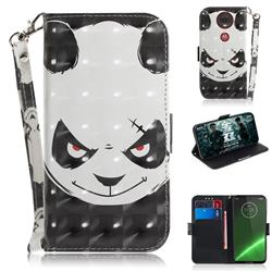 Angry Bear 3D Painted Leather Wallet Phone Case for Motorola Moto G7 / G7 Plus