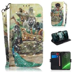 Beast Zoo 3D Painted Leather Wallet Phone Case for Motorola Moto G7 / G7 Plus