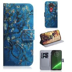 Apricot Tree PU Leather Wallet Case for Motorola Moto G7 / G7 Plus