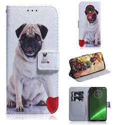 Pug Dog PU Leather Wallet Case for Motorola Moto G7 / G7 Plus