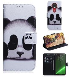 Sleeping Panda PU Leather Wallet Case for Motorola Moto G7 / G7 Plus