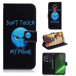 Not Touch My Phone PU Leather Wallet Case for Motorola Moto G7 / G7 Plus