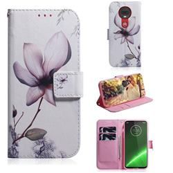 Magnolia Flower PU Leather Wallet Case for Motorola Moto G7 / G7 Plus