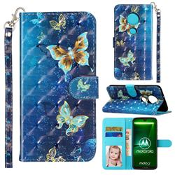 Rankine Butterfly 3D Leather Phone Holster Wallet Case for Motorola Moto G7 / G7 Plus