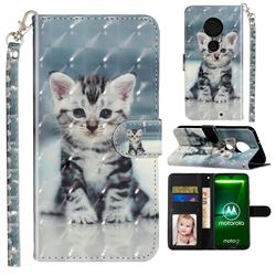 Kitten Cat 3D Leather Phone Holster Wallet Case for Motorola Moto G7 / G7 Plus