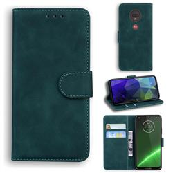 Retro Classic Skin Feel Leather Wallet Phone Case for Motorola Moto G7 / G7 Plus - Green