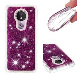Dynamic Liquid Glitter Quicksand Sequins TPU Phone Case for Motorola Moto G7 Power - Purple