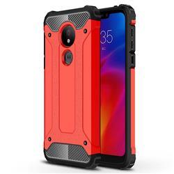 King Kong Armor Premium Shockproof Dual Layer Rugged Hard Cover for Motorola Moto G7 Power - Big Red