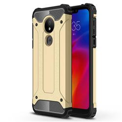King Kong Armor Premium Shockproof Dual Layer Rugged Hard Cover for Motorola Moto G7 Power - Champagne Gold
