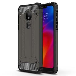 King Kong Armor Premium Shockproof Dual Layer Rugged Hard Cover for Motorola Moto G7 Power - Bronze
