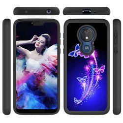 Dancing Butterflies Shock Absorbing Hybrid Defender Rugged Phone Case Cover for Motorola Moto G7 Power
