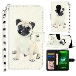 Pug Dog 3D Leather Phone Holster Wallet Case for Motorola Moto G7 Power