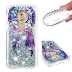 Fantasy Wind Chimes Dynamic Liquid Glitter Quicksand Soft TPU Case for Motorola Moto G7 Play