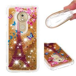 Golden Tower Dynamic Liquid Glitter Quicksand Soft TPU Case for Motorola Moto G7 Play