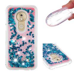 Dynamic Liquid Glitter Quicksand Sequins TPU Phone Case for Motorola Moto G7 Play - Blue