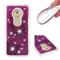 Dynamic Liquid Glitter Quicksand Sequins TPU Phone Case for Motorola Moto G7 Play - Purple