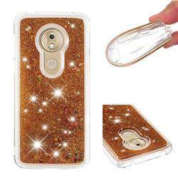 Dynamic Liquid Glitter Quicksand Sequins TPU Phone Case for Motorola Moto G7 Play - Golden