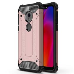 King Kong Armor Premium Shockproof Dual Layer Rugged Hard Cover for Motorola Moto G7 Play - Rose Gold