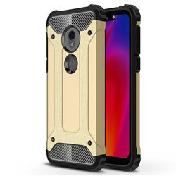 King Kong Armor Premium Shockproof Dual Layer Rugged Hard Cover for Motorola Moto G7 Play - Champagne Gold