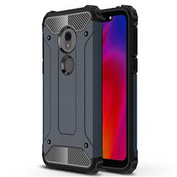 King Kong Armor Premium Shockproof Dual Layer Rugged Hard Cover for Motorola Moto G7 Play - Navy