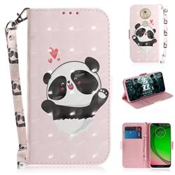 Heart Cat 3D Painted Leather Wallet Phone Case for Motorola Moto G7 Play