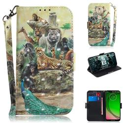 Beast Zoo 3D Painted Leather Wallet Phone Case for Motorola Moto G7 Play